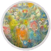 Daydream After The Music Of Max Reger Round Beach Towel by Annael Anelia Pavlova