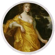 Diana Kirke-later Countess Of Oxford Round Beach Towel by Sir Peter Lely