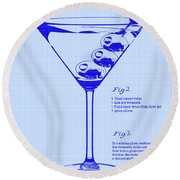 Dirty Martini Patent Round Beach Towel by Jon Neidert