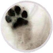 Dog Art - I Paw You Round Beach Towel by Sharon Cummings