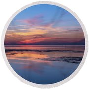 Round Beach Towel featuring the photograph Draw The Line by Thierry Bouriat