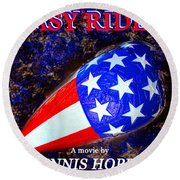 Easy Rider Movie Poster A Round Beach Towel by David Lee Thompson