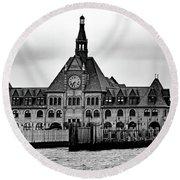 Ellis Island No. 49-3 Round Beach Towel by Sandy Taylor