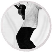Elvis Presley In 1956 Round Beach Towel by Underwood Archives