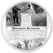 Emancipation Proclamation Round Beach Towel by War Is Hell Store