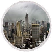 Empire State Building Round Beach Towel by Martin Newman