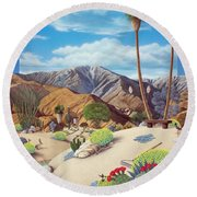 Enchanted Desert Round Beach Towel by Snake Jagger