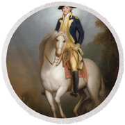 Equestrian Portrait Of George Washington Round Beach Towel by Rembrandt Peale