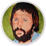 Eric Clapton Round Beach Towel by Neil Feigeles