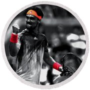 Fabio Fognini Round Beach Towel by Brian Reaves