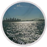 Fabulous Sydney Harbour Round Beach Towel by Leanne Seymour