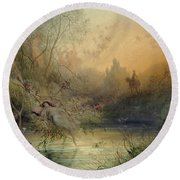 Fairy Land Round Beach Towel by Gustave Dore