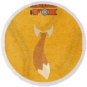 Fantastic Mr. Fox Round Beach Towel by Ayse Deniz