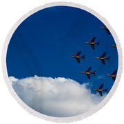 Fighter Jet Round Beach Towel by Martin Newman