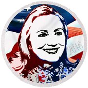 Flag Of Hillary Round Beach Towel by Jost Houk