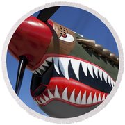 Flying Tiger Plane Round Beach Towel by Garry Gay