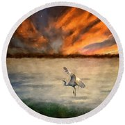 For Just This One Moment Round Beach Towel by Lois Bryan