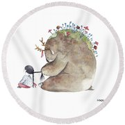 Forest Spirit Round Beach Towel by Soosh