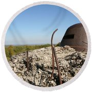 Round Beach Towel featuring the photograph Fort De Douaumont - Verdun by Travel Pics