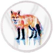Fox  Round Beach Towel by Marian Voicu