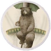 Frederick Round Beach Towel by Eric Fan