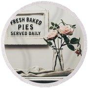 Fresh Baked Round Beach Towel by Kim Hojnacki