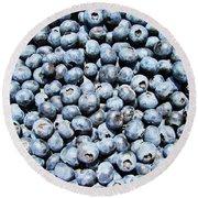 Fresh Blueberries  Round Beach Towel by JC Findley
