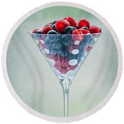 Fruit Cocktail Round Beach Towel by Maggie Terlecki
