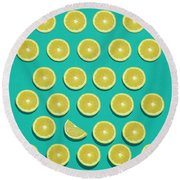 Fruit  Round Beach Towel by Mark Ashkenazi