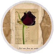 Funeral For A Friend Round Beach Towel by Gillian Singleton