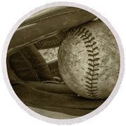 Game Ball Round Beach Towel by Bill Cannon