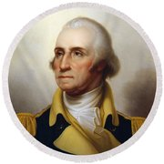 General Washington Round Beach Towel by War Is Hell Store