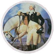 George Washington Round Beach Towel by John Trumbull