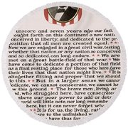 Gettysburg Address Round Beach Towel by International  Images