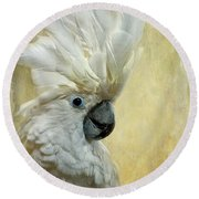 Glamour Girl Round Beach Towel by Lois Bryan