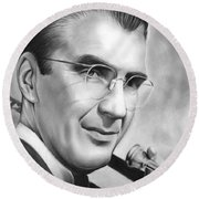 Glenn Miller Round Beach Towel by Greg Joens
