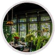 Glensheen Mansion Breakfast Room Round Beach Towel by Paul Freidlund