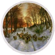 Glowed With Tints Of Evening Hours Round Beach Towel by Joseph Farquharson