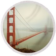 Golden Gate Bridge Round Beach Towel by Ana V Ramirez