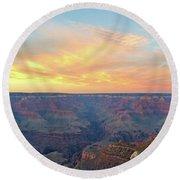 Grand Canyon No. 5 Round Beach Towel by Sandy Taylor