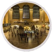 Grand Central Station Round Beach Towel by Martin Newman