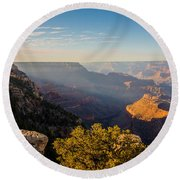 Grandview Sunset - Grand Canyon National Park - Arizona Round Beach Towel by Brian Harig