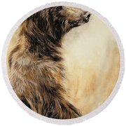 Grizzly Bear 2 Round Beach Towel by Odile Kidd