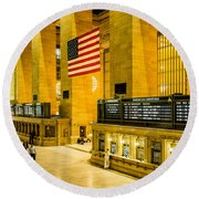 Round Beach Towel featuring the photograph Grand Central Pride by M G Whittingham