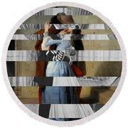 Hayes's The Kiss And Vivien Leigh With Clark Gable Round Beach Towel by Luigi Tarini