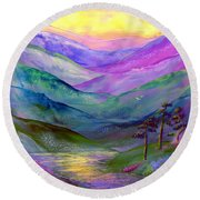 Highland Light Round Beach Towel by Jane Small
