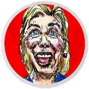 Hillary Round Beach Towel by Robert Yaeger