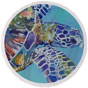 Honu Round Beach Towel by Marionette Taboniar