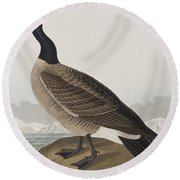 Hutchins's Barnacle Goose Round Beach Towel by John James Audubon