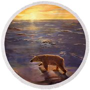 In The Wilderness Round Beach Towel by Kevin Parrish